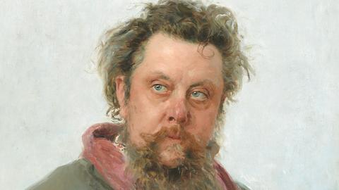 Modest Mussorgsky gemalt von Ilja Repin, 1881, Tretjakow-Galerie, Moskau