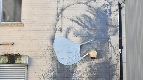 Mundschutz Schutzmaske Banksy