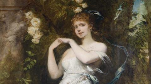 Hans Makart, Die Frau des Künstlers als Flora, 1883