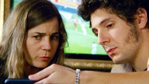 """Blanche Gardin als Marie mit Vincent Lacoste in einer Szene des Films """"Online für Anfänger"""""""