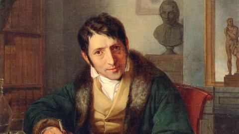 Ludwig Börne auf einem Gemälde von Moritz Oppenheim