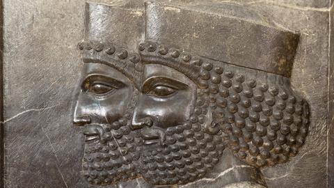archäologisches Fundstück aus Persepolis, Iranisches Nationalmuseum, Teheran, Iran