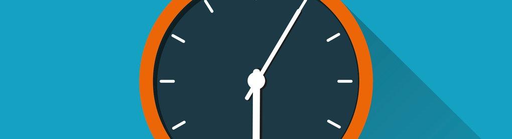 Stilisierte Uhr