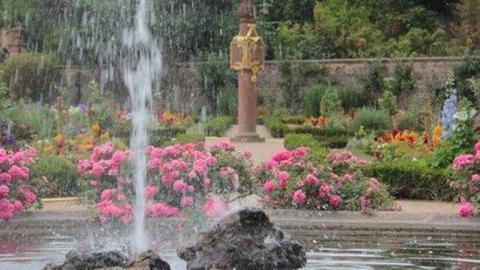Ein Blick in den Prinz Georg-Garten