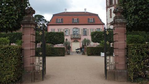 Der Eingang zum Prinz Georg-Garten