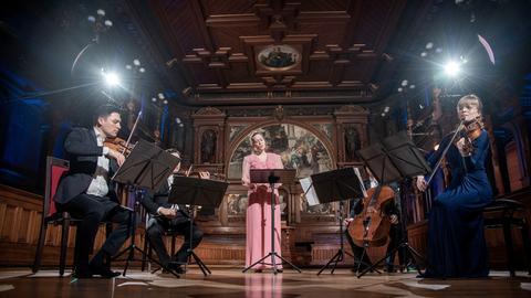 Anna Lucia Richter und das Schumann-Quartett beim Heidelberger Frühling 2021