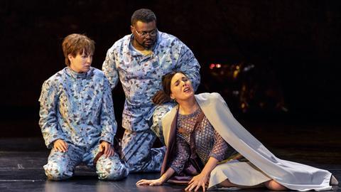 Paula Murrihy (Idamante), Russell Thomas (Idomeneo), Nicole Chevalier (Elettra)