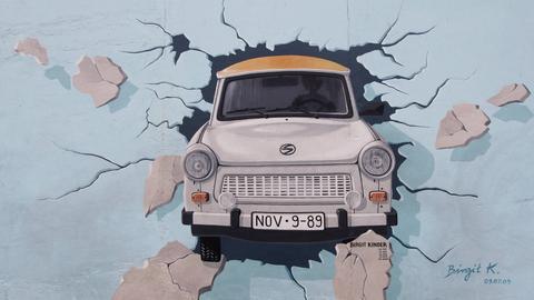 Graffito auf der Berliner Mauer