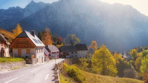 Haus Wald Straße Slowenien