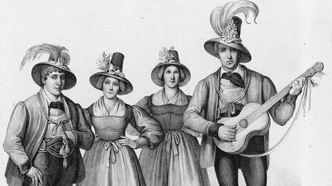 Die Rainer Family1839 in New York