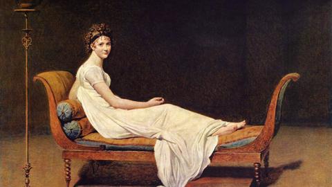 Jacques-Louis David: Madame Récamier auf einer Récamière, 1800
