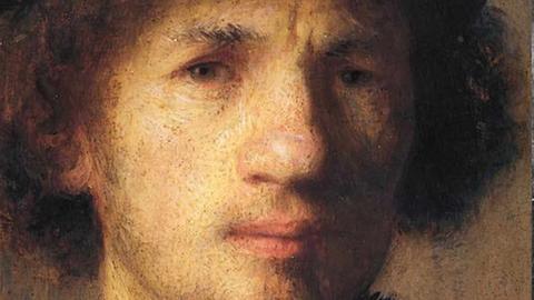 Selbstporträt des niederländischen Malers Rembrandt