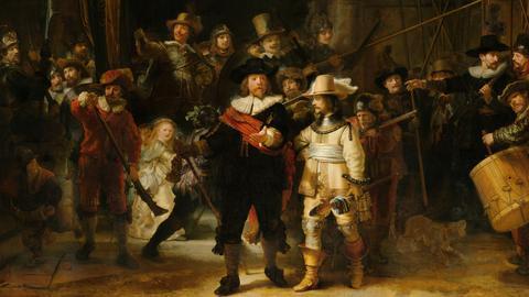 """Rembrandts """"Die Nachtwache"""" im Rijksmuseum Amsterdam"""