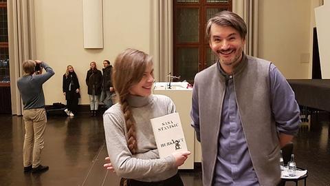 Schriftsteller Saša Stanišić (r.) und Nele Pollatschek