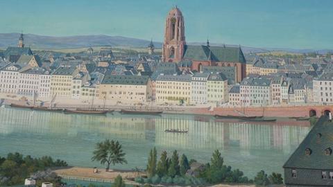 Historisches Museum Frankfurt: Frankfurt-Panorama von Sager