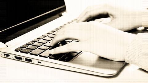 Schreiben auf der Tastatur (auf alt)