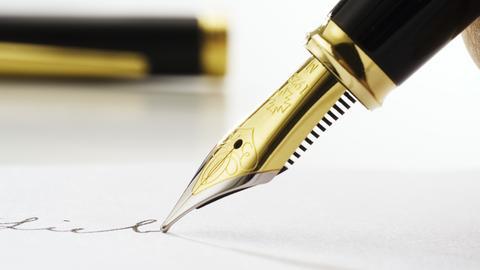 Schreiben mit einem Füller
