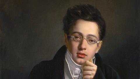 Der junge Schubert, Gemälde von Josef Abel