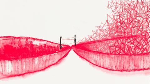 Ausstellung Chiharu Shiota Gedankenlinien