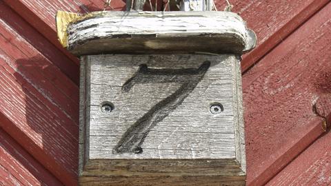 Sieben 7 Zahl