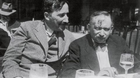 Stefan Zweig und Joseph Roth 1936 in Belgien