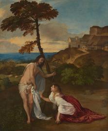 Tizian | Noli me tangere (Christus erscheint Maria Magdalena), um 1514