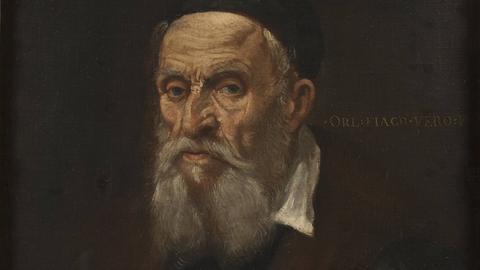 """""""Bildnis eines alten Mannes"""". Porträt Tizians. Gemälde, undatiert, von Orlando Flacco"""