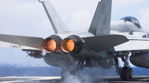 Triebwerke Düsenjäger Kampfflugzeug