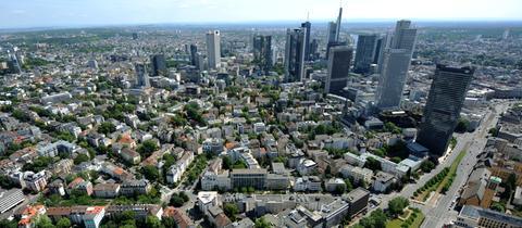 Westend Frankfurt Luftansicht