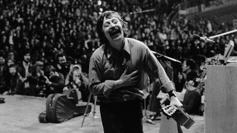 Wolf Biermann bei seinem Konzert in Köln 1976
