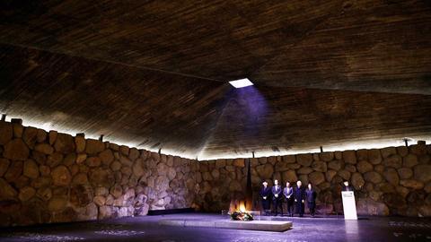 In der israelischen Holocaust-Gedenkstätte Yad Vashem