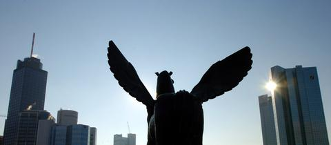 Pegasus auf dem Dach der Alten Oper Frankfurt