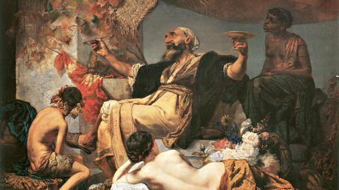 Anselm Feuerbach: Hafis vor der Schenke, 1852