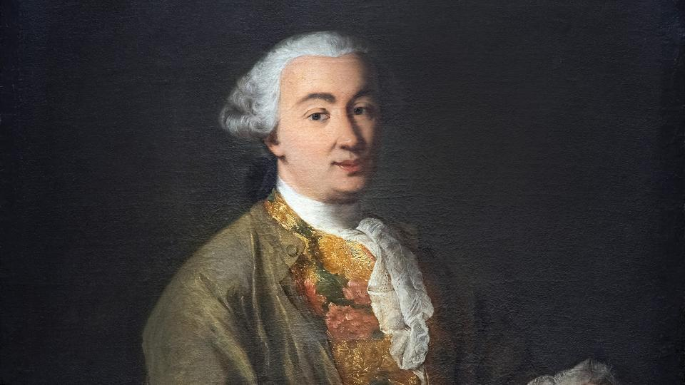 Carlo Goldoni, ca. 1757, Gemälde von Alessandro Longhi