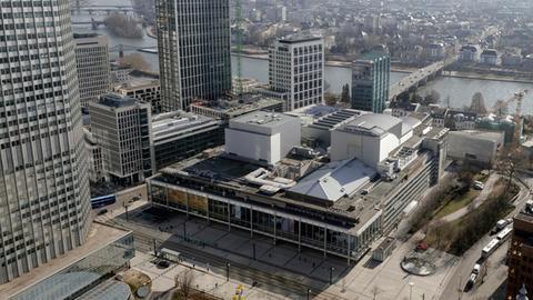 Städtische Bühnen Frankfurt Luftaufnahme