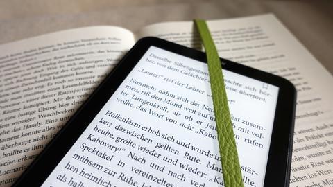 Buch und E-Book-Reader