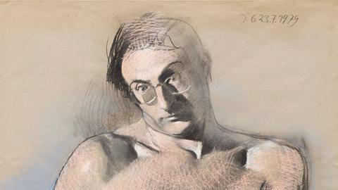 Johannes Grützke, Selbstbildnis, 1979