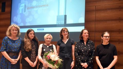 Die Preisträgerinnen des Hessischen Journalistenpreises 2019