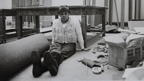 Joseph Beuys im Hessischen Landesmuseum Darmstadt, 1970