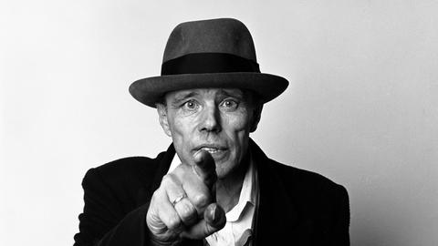 Portrait von Joseph Beuys, Paris, 1985