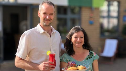 Restaurant Blanca: Christopher Zahlten und seine Frau Blanca
