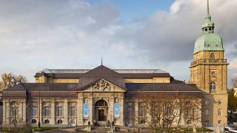 Frontale Ansicht des Hessisches Landesmuseum Darmstadt
