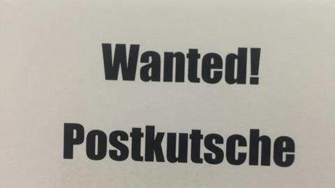 Wanted! Postkutsche