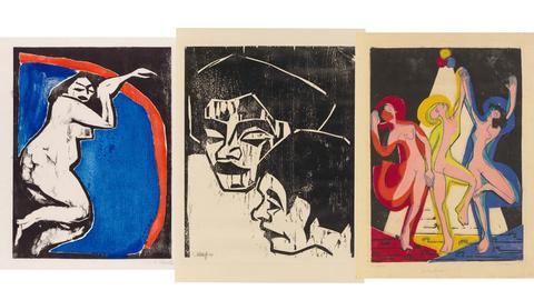"""Bilder von Schmidt-Rottluff, Heckel und Kirchner aus der Ausstellung """"Geheimnis der Materie"""""""