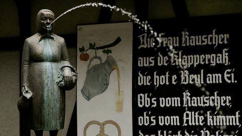 Der Frau Rauscher Brunnen in Frankfurt-Sachsenhausen