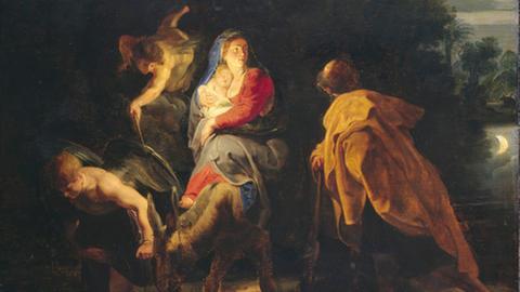 Mondbild Peter Paul Rubens: Die Flucht nach Ägypten. 1614